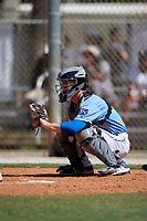Bo Willis during the WWBA World Championship at the Roger Dean Complex on October 19, 2018 in Jupiter, Florida.  Bo Willis is a catcher from Magnolia, Texas who attends Magnolia High School and is committed to Texas Tech.  (Mike Janes/Four Seam Images)