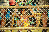 A local girl watches the International Indigenous Games in Brazil. 24th October 2015