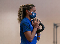 ORLANDO, FL - JANUARY 12: Catarina Macario of the USWNT works out at the team hotel on January 12, 2021 in Orlando, Florida.