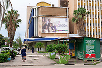 ZAMBIA, capital Lusaka, downtown, Cairo Road, Stanbic Bank