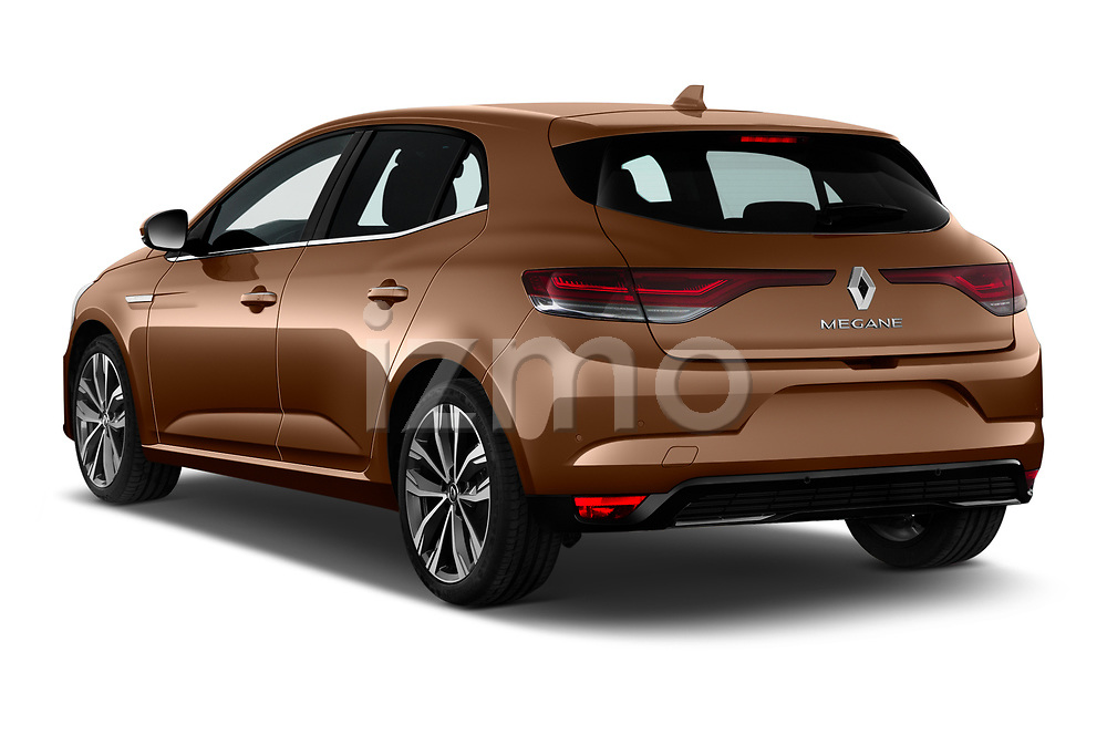 Car pictures of rear three quarter view of 2020 Renault Megane Edition-One 5 Door Hatchback Angular Rear