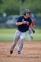 Atlanta Braves Jackson Pokorney (38) during a Minor League Extended Spring Training game against the Philadelphia Phillies on April 20, 2018 at Carpenter Complex in Clearwater, Florida.  (Mike Janes/Four Seam Images)