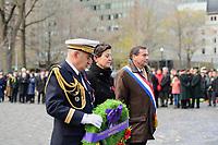 Catherine Feuillet, Consule generale de France a Montreal<br />  lors du jour du souvenir 2018<br /> <br /> PHOTO : Agence Quebec Presse