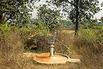 An unused deep tube-well in Rajdoha village, about 9km from Jaduguda. Rajdoha is 6km from the Bhatin mines and 5km from Narwapahar mines. The uranium waste dumped in the tailing ponds allegedly contaminates groundwater.