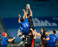 8th January 2021; RDS Arena, Dublin, Leinster, Ireland; Guinness Pro 14 Rugby, Leinster versus Ulster; Alan O'Connor of Ulster collects the line out ball