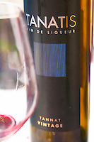 Tanatis Vin de Liqueur Tannat Vintage, sweet red fortified wine made in Port wine style in Cahors, France Cahors Lot Valley France