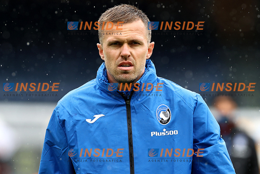 Josip Ilicic of Atalanta BC looks on prior to the Serie A football match between SSC Napoli and Atalanta BC at San Paolo stadium in Naples (Italy), October 17th 2020. Photo Cesare Purini / Insidefoto