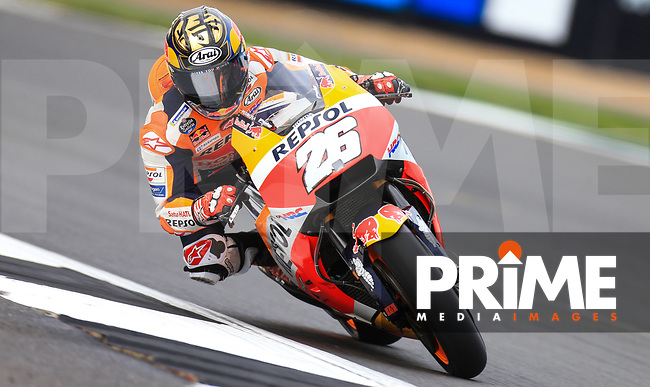 Dani Pedrosa (26) of the Repsol Honda Team race team during the GoPro British MotoGP at Silverstone Circuit, Towcester, England on 26 August 2018. Photo by Chris Brown / PRiME Media Images