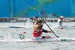 Christine Gauthier, Rio 2016 - Para Canoe // Para canoë.<br /> Christine Gauthier competes in the Women's KL2 final Canoe Sprint // Christine Gauthier participe au sprint de canoë KL2 finale féminin. 14/09/2016.