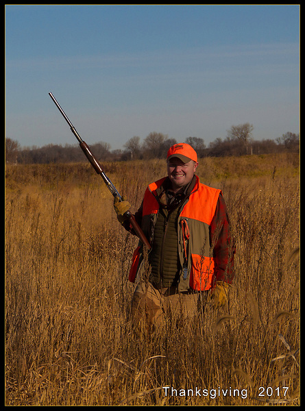 McConville, pheasant hunting, Thanksgiving 2017, Pella, Iowa.