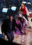 """Norm Lewis, Tony Yazbeck and Laura Osnes performing during the MCP Production of """"The Scarlet Pimpernel"""" Concert at the David Geffen Hall on February 18, 2019 in New York City."""