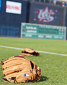 A glove sits on the ground before Game 3 of the annual Collegiate Friendship Series between Team USA and Japan on Tuesday, July 5, 2011. The game was originally scheduled for July 4 but was postponed to due to rain, forcing the two teams to play a double header Tuesday. Game 2 of 7 was played in the afternoon at the USA Baseball National Training Complex in Cary and Game 3 at the Durham Bulls Athletic Park in Durham. Photo by Al Drago.