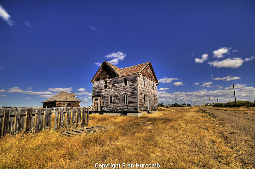Abandoned hotel or school in Robsart Saskatchewan.