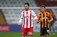 Tom Pett of Stevenage during Stevenage vs Hull City, Emirates FA Cup Football at the Lamex Stadium on 29th November 2020