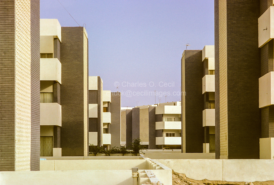 Kuwait October 1966.  New Apartment Buildings.