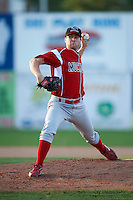 Batavia Muckdogs pitcher Tim Cooney #13 during game two of a NY-Penn League doubleheader against the Jamestown Jammers at Russell Diethrick Park on September 5, 2012 in Jamestown, New York.  Jamestown defeated Batavia 3-2.  (Mike Janes/Four Seam Images)