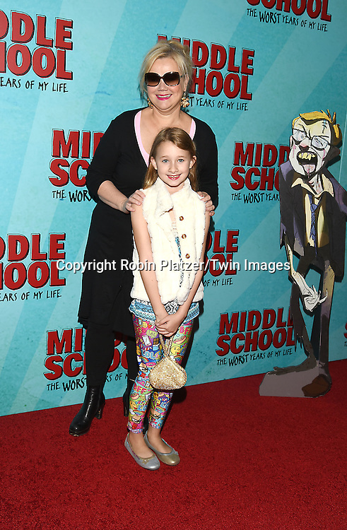 """Caroline Rhea and daughter Ava attend the """"Middle School: The Worst Years of My Life"""" New York Screening on October 1, 2016 at the Regal E-Walk in New York, New York, USA.<br /> <br /> photo by Robin Platzer/Twin Images<br />  <br /> phone number 212-935-0770"""