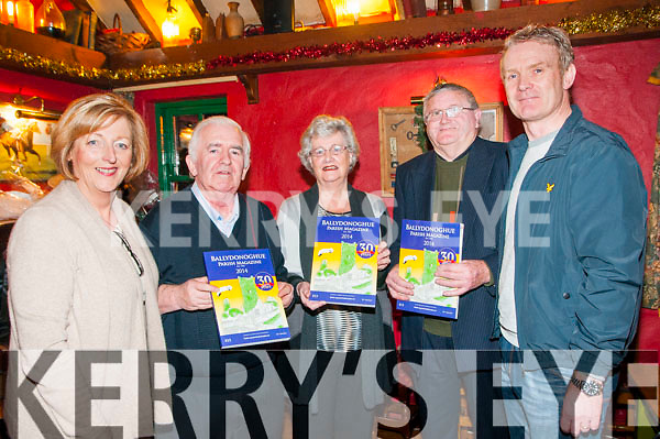 Journal Launch : Pictured at the launch of the 30th annual Ballydonoghue Journal at the Thatch Bar, Liselton on Friday night last were Noelle Hegarty, Jim Finnerty, Sarah Buckley, John Keane & Sean Linnane.