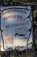 Europe/France/Midi-Pyrénées/46/Lot/Montvalent: Enseigne du four communal du Vayssou