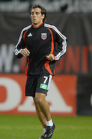 DC United midfielder Matias Donnet (7) during pre-game warmups. The New England Revolution defeated DC United 2-1, Saturday, October 7, 2006, at RFK Stadium.