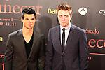 Robert Pattinson & Taylor Lautner. Premiere Amanecer-Parte I en Barcelona.