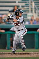 Lake Elsinore Storm shortstop Deion Tansel (10) at bat during a California League game against the Modesto Nuts at John Thurman Field on May 11, 2018 in Modesto, California. Modesto defeated Lake Elsinore 3-1. (Zachary Lucy/Four Seam Images)