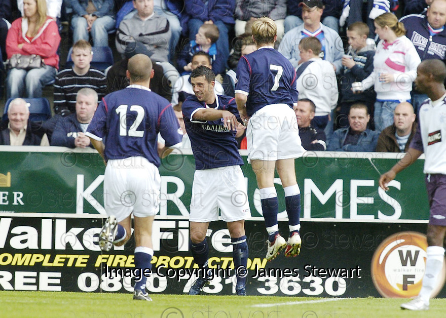 21/07/2007       Copyright Pic: James Stewart.File Name : sct_jspa15_falkirk_v_rangers.ALEX TOTTEN TESTIMONIAL.PEDRO MOUTINHO CELEBRATES SCORING FALKIRK'S EQUALISER....James Stewart Photo Agency 19 Carronlea Drive, Falkirk. FK2 8DN      Vat Reg No. 607 6932 25.Office     : +44 (0)1324 570906     .Mobile   : +44 (0)7721 416997.Fax         : +44 (0)1324 570906.E-mail  :  jim@jspa.co.uk.If you require further information then contact Jim Stewart on any of the numbers above.........