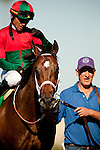 Jeranimo with Garrett Gomez aboard wins the Shoemaker Mile at Betfair Hollywood Park in Inglewood, California on June 30, 2012.