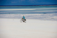 Afrique/Afrique de l'Est/Tanzanie/Zanzibar/Ile Unguja/Kiwenga: retour des pécheurs sur la plage