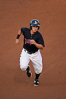 Tampa Yankees outfielder Mark Payton (22) running the bases during a game against the Daytona Tortugas on April 24, 2015 at George M. Steinbrenner Field in Tampa, Florida.  Tampa defeated Daytona 12-7.  (Mike Janes/Four Seam Images)