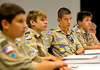 Event photography of the 2012 Duke Energy Merit Badge Encampment, held at the Duke EnergyExplorium at the McGuire Nuclear Energy Station in Huntersville. The annual event gave Boy Scouts the opportunity to work on 21 merit badges, including First Aid, environmental sciences, chemistry and citizenship in the nation.