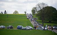 peloton and teamcars in 1 shot<br /> <br /> Liège-Bastogne-Liège 2014