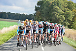 AG2R La Mondiale and Team Sunweb on the front of the peloton during Paris-Tours 2020, running 213km from Chartres to Tours, France. 11th October 2020.<br /> Picture: ASO/Gautier Demouveaux | Cyclefile<br /> All photos usage must carry mandatory copyright credit (© Cyclefile | ASO/Gautier Demouveaux)