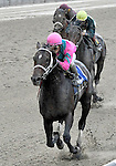 09 May 09: Charitable Man, ridden by Alan Garcia, wins the 56th running of the grade 2 Peter Pan Stakes for three year olds at Belmont Park in Elmont, New York.