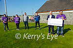 Cheque Presentation: Causway GAA Clun Chaitman Ger Canty Presentaing a cheque  for €11,437.00 to Con O'Connor of Pieta House, Tralee on Monday evening last. Also in the photo are Tim O'Driscoll, Fiona Flynn, John  Madden & Eamonn Fitzgerald.