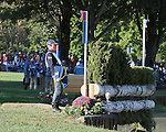 Niklas Jonsson of Sweden walks the cross country course before the cross country phase of the FEI  World Eventing Championship at the Alltech World Equestrian Games in Lexington, Kentucky.