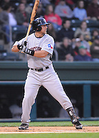 April 13, 2009: Outfielder Mike Bianucci (3) of the Hickory Crawdads, Class A South Atlantic League affiliate of the Texas Rangers, in a game against the Greenville Drive at Fluor Field at the West End in Greenville, S.C. Photo by: Tom Priddy/Four Seam Images