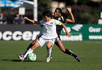 Kandace Wilson (9) defends Aya Miyama (front) on the play. Los Angeles Sol defeated FC Gold Pride 2-0 at Buck Shaw Stadium in Santa Clara, California on May 24, 2009.