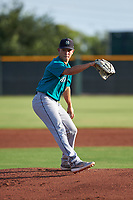 AZL Mariners starting pitcher Brayan Perez (34) during an Arizona League game against the AZL Giants Orange on July 18, 2019 at the Giants Baseball Complex in Scottsdale, Arizona. The AZL Giants Orange defeated the AZL Mariners 7-4. (Zachary Lucy/Four Seam Images)
