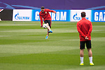 Atletico de Madrid's player Koke Resurreccion during the practice session the day before the EUFA Champions League match between Atletico de Madrid and FC. Barcelona at Vicente Calderon in Madrid. April 13, 2016. (ALTERPHOTOS/Borja B.Hojas)