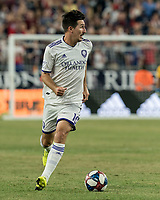 FOXBOROUGH, MA - JULY 28: Sacha Kljestan #16 looks to pass during a game between Orlando City SC and New England Revolution at Gillette Stadium on July 27, 2019 in Foxborough, Massachusetts.