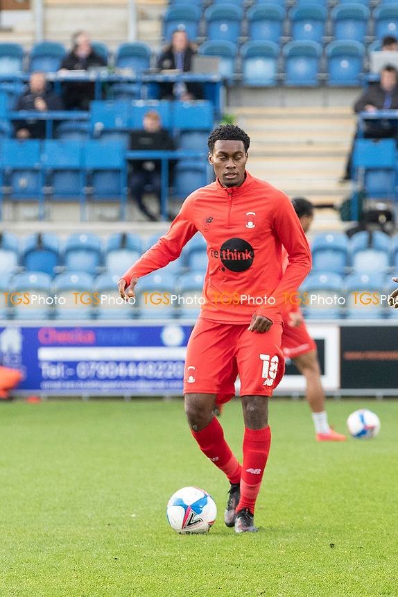 Tunji Akinola, Leyton Orient during Colchester United vs Leyton Orient, Sky Bet EFL League 2 Football at the JobServe Community Stadium on 14th November 2020