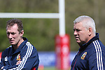 British & Irish Lions training session.Lions coaches Rob Howley and warren Gatland watch over the first training session in Wales..Vale Resort.15.05.13.©Steve Pope