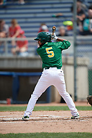 Beloit Snappers third baseman Jesus Lopez (5) at bat during a game against the Dayton Dragons on July 22, 2018 at Pohlman Field in Beloit, Wisconsin.  Dayton defeated Beloit 2-1.  (Mike Janes/Four Seam Images)