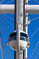 Las Vegas, Nevada.  A Gondola on the High Roller, the World's Tallest Observation Wheel, as of 2015.