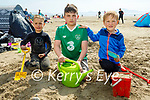 Enjoying Banna beach on Sunday, l to r: Brian Jones, Patrick and Casper Tuszynski.