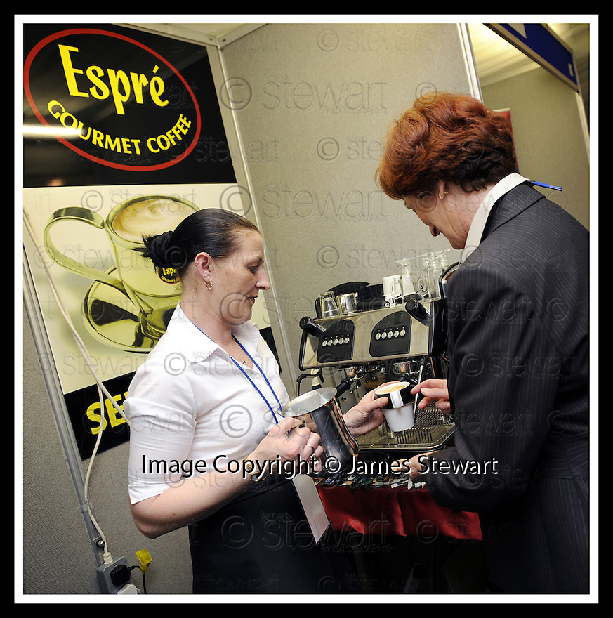 30/04/2008   Copyright Pic: James Stewart.File Name : 10_business_fair.FALKIRK BUSINESS FAIR 2008.ESPRE GOURMET COFFEE.James Stewart Photo Agency 19 Carronlea Drive, Falkirk. FK2 8DN      Vat Reg No. 607 6932 25.Studio      : +44 (0)1324 611191 .Mobile      : +44 (0)7721 416997.E-mail  :  jim@jspa.co.uk.If you require further information then contact Jim Stewart on any of the numbers above........