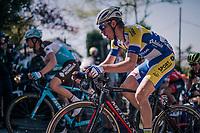 Benjamin Declercq (BEL/Sport Vlaanderen-Baloise) up the Mur de Huy<br /> <br /> 82nd Flèche Wallonne 2018 (1.UWT)<br /> 1 Day Race: Seraing - Huy (198km)