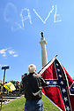 KKK and White Nationalists meet Take 'Em Down protesters at Robert E. Lee monument, Sunday, May, 8, 2017.