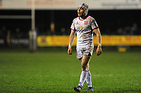 Michael Lowry of Ulster in action during the Guinness Pro14 Round 15 match between the Ospreys and Ulster Rugby at Morganstone Brewery Field in Bridgend, Wales, UK. Friday 15 February 2019